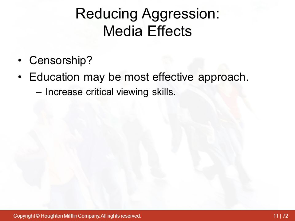 Reducing Aggression: Media Effects