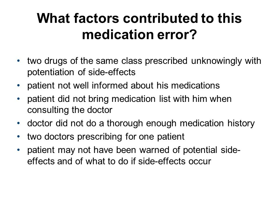 What factors contributed to this medication error