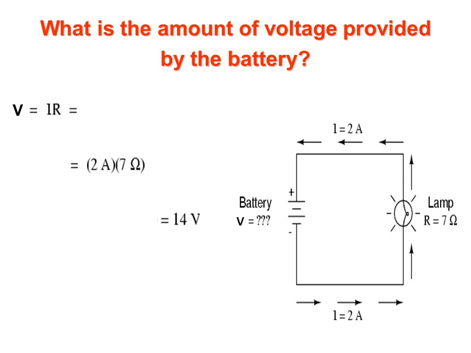 What is the amount of voltage provided by the battery