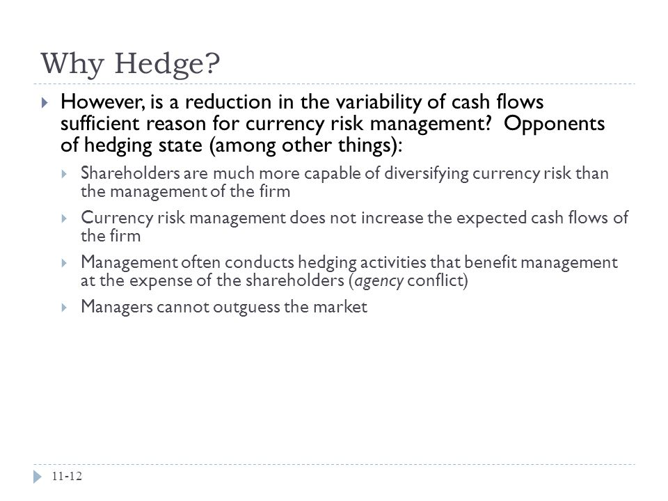Why Hedge