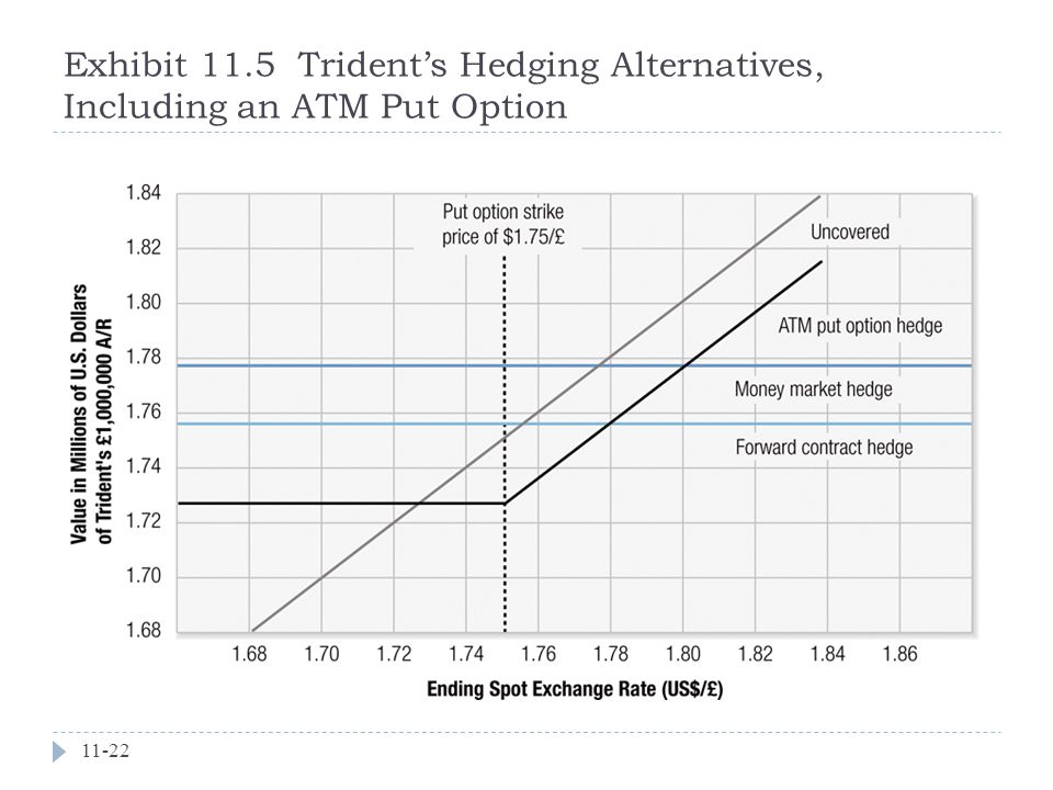 Exhibit 11.5 Trident's Hedging Alternatives, Including an ATM Put Option
