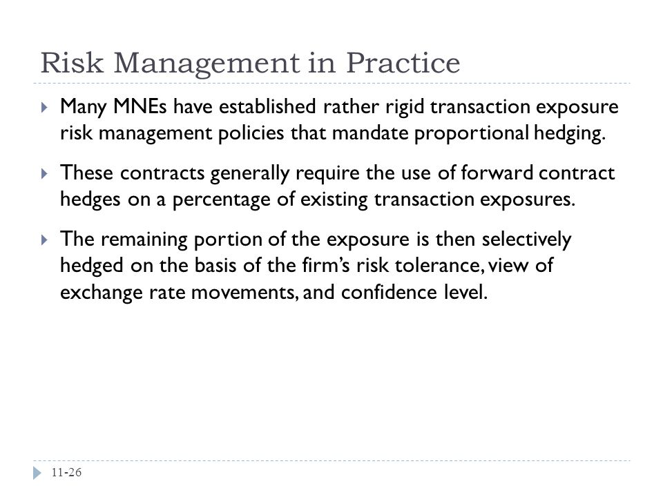Risk Management in Practice
