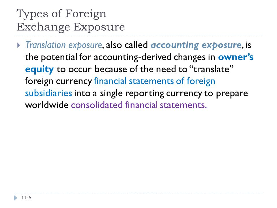 Types of Foreign Exchange Exposure