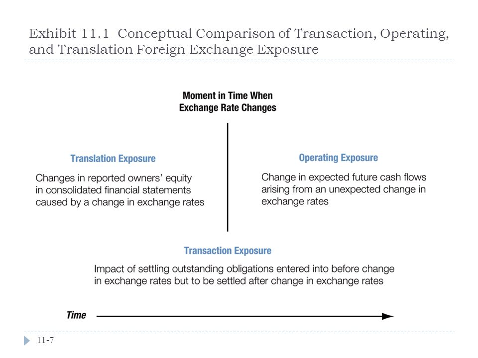 Exhibit 11.1 Conceptual Comparison of Transaction, Operating, and Translation Foreign Exchange Exposure