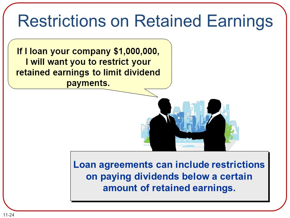 Restrictions on Retained Earnings