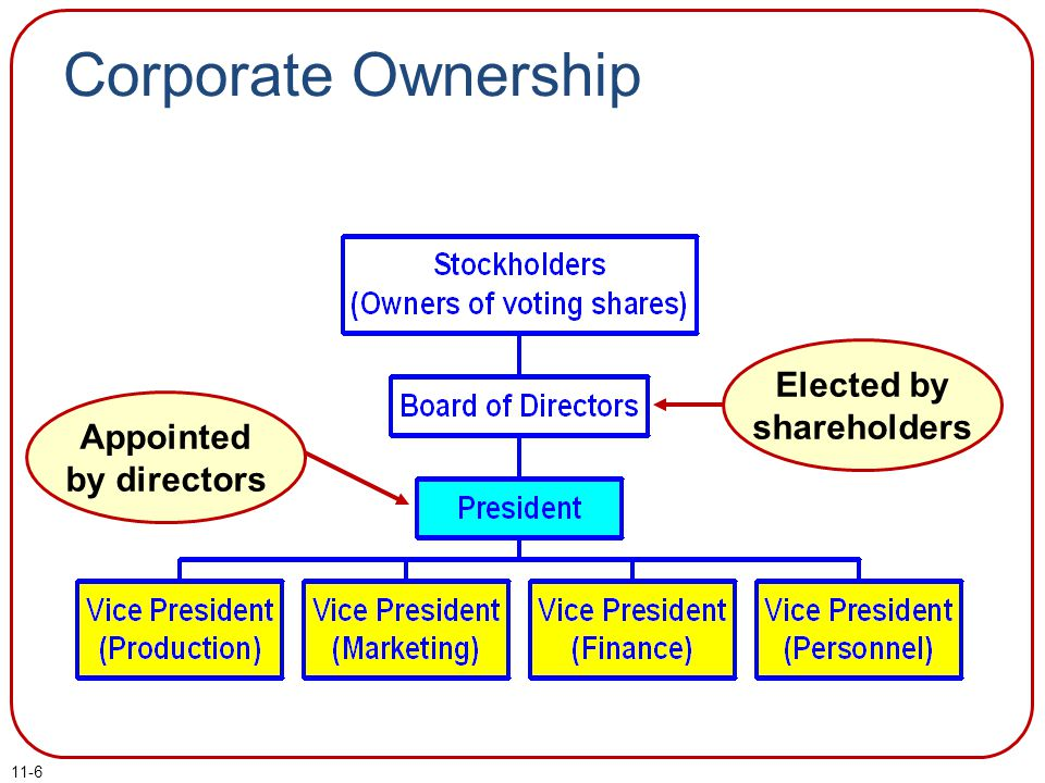 Elected by shareholders Appointed by directors