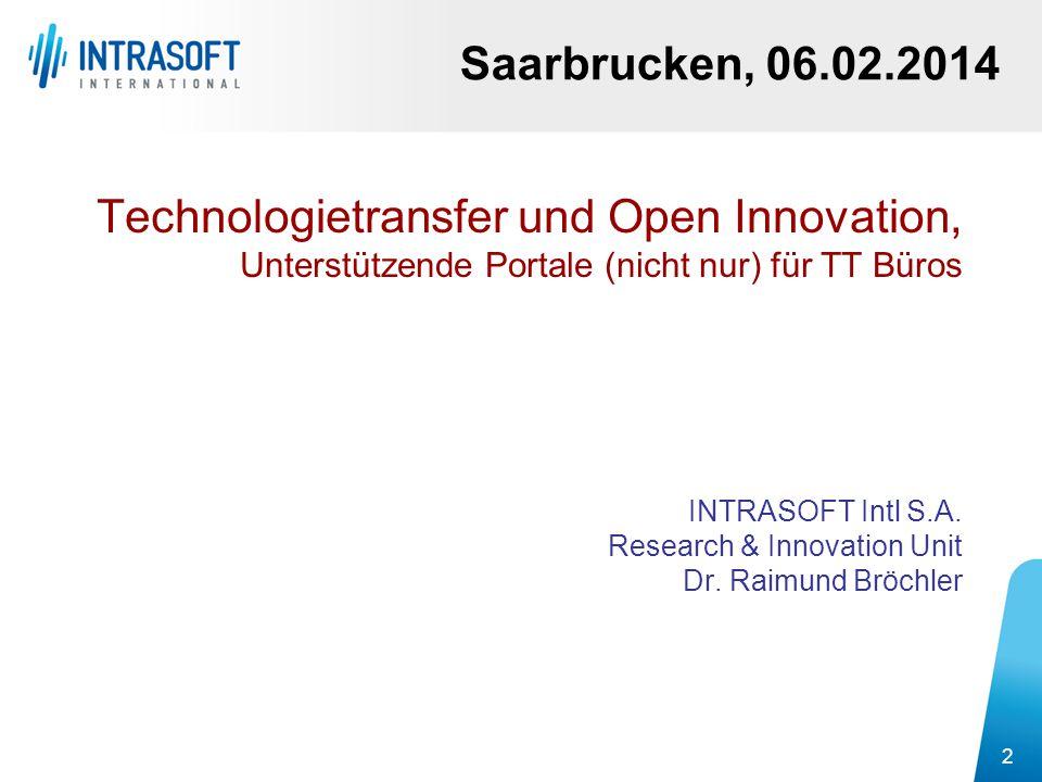 Technologietransfer und Open Innovation,