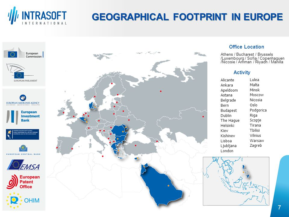 GEOGRAPHICAL FOOTPRINT IN EUROPE