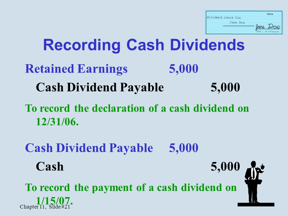 Recording Cash Dividends