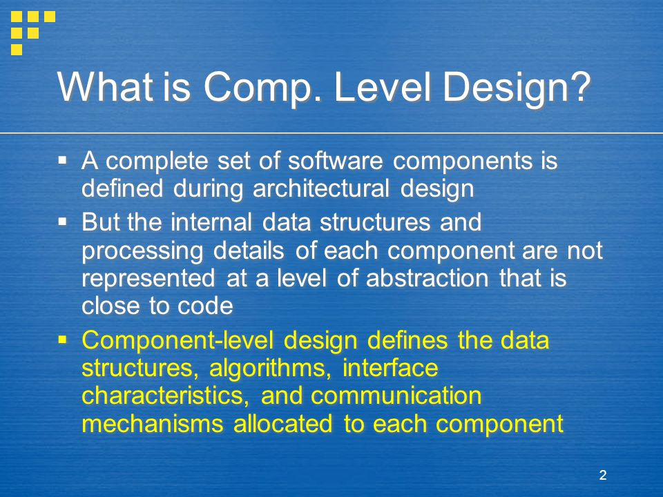 What is Comp. Level Design