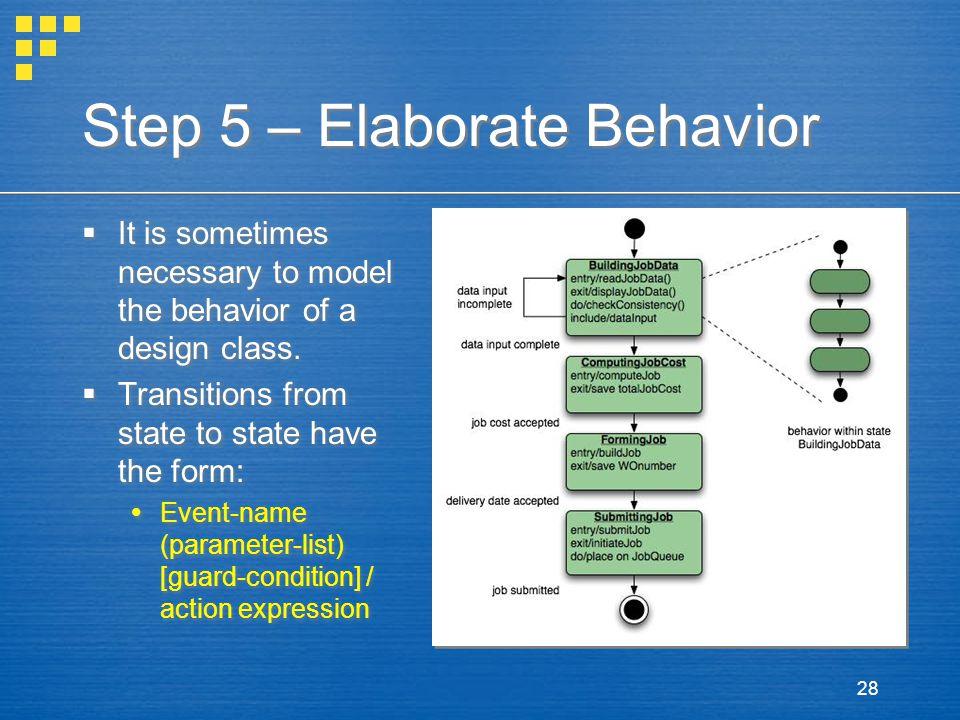 Step 5 – Elaborate Behavior