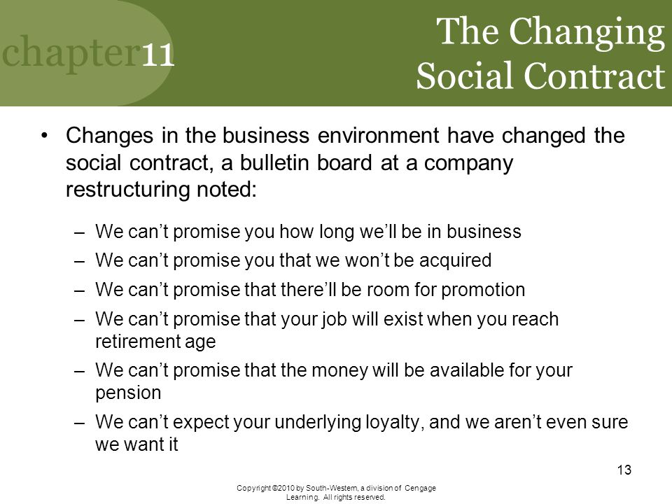 The Changing Social Contract