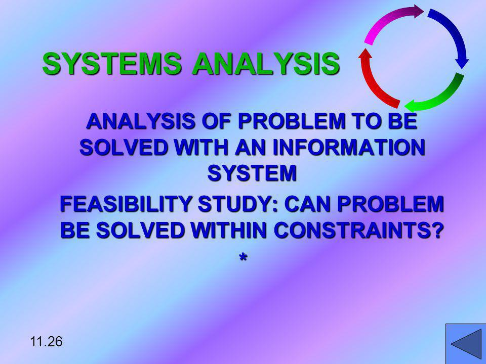 ANALYSIS OF PROBLEM TO BE SOLVED WITH AN INFORMATION SYSTEM