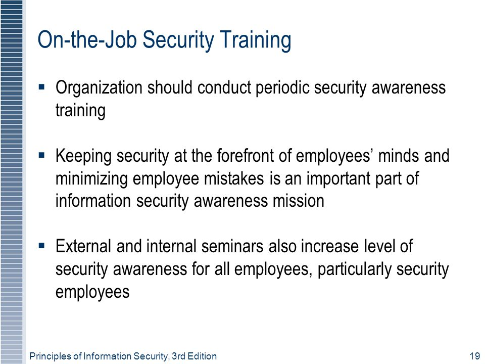 On-the-Job Security Training