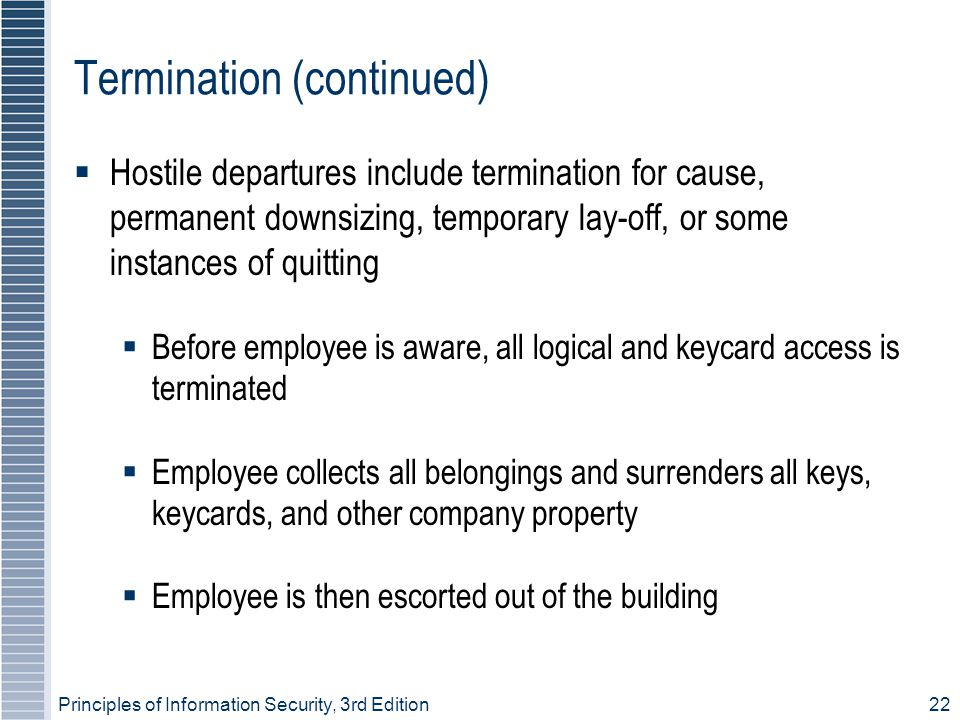 Termination (continued)