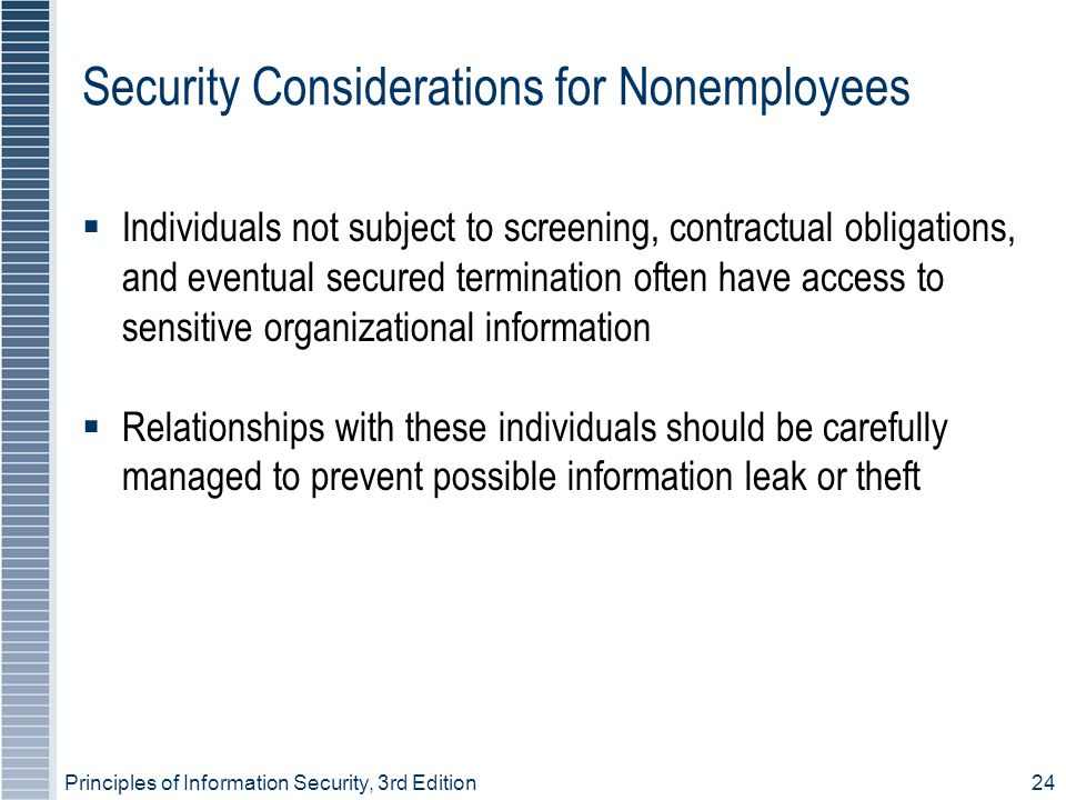 Security Considerations for Nonemployees