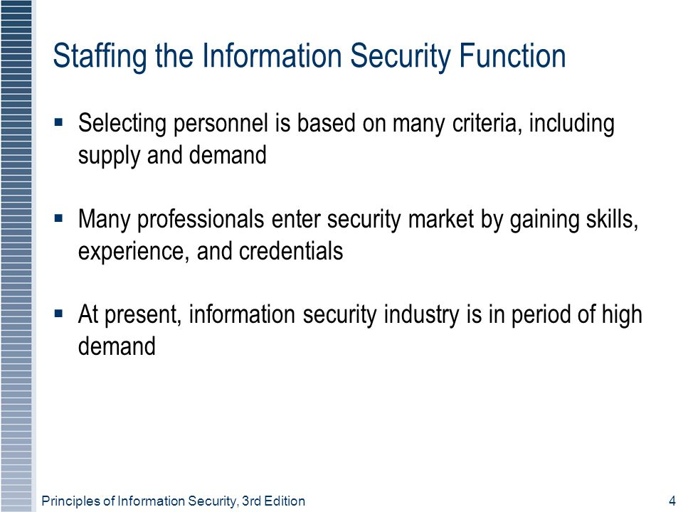 Staffing the Information Security Function