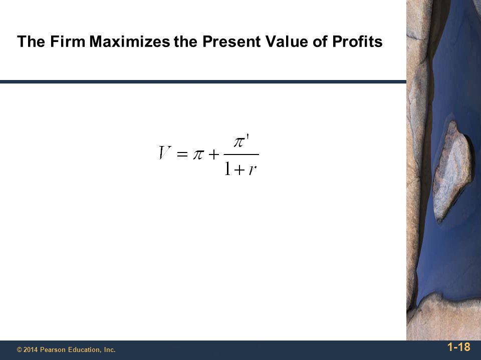 The Firm Maximizes the Present Value of Profits