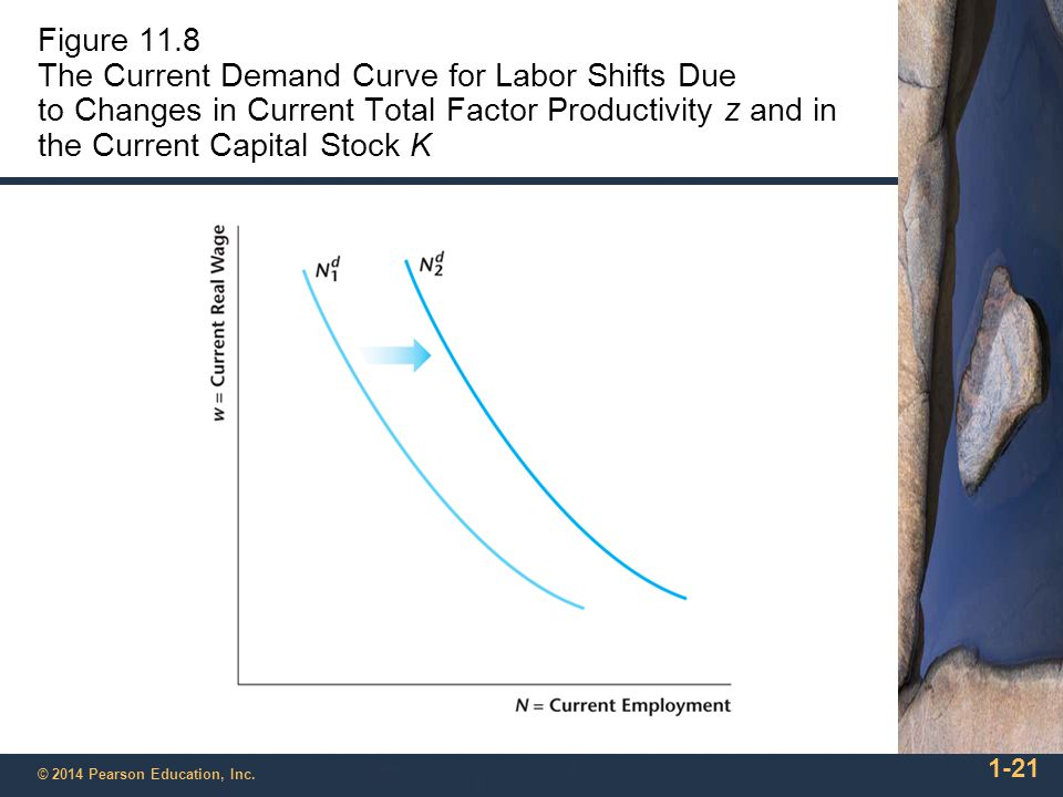 Figure 11.8 The Current Demand Curve for Labor Shifts Due to Changes in Current Total Factor Productivity z and in the Current Capital Stock K
