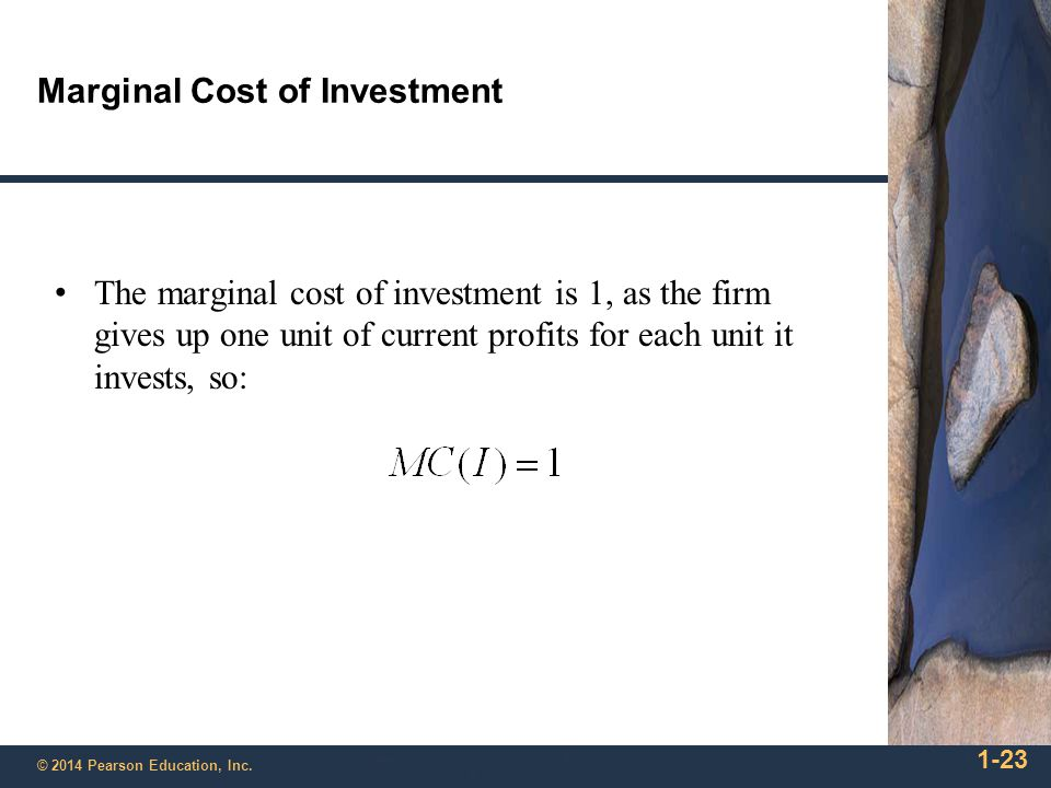 Marginal Cost of Investment