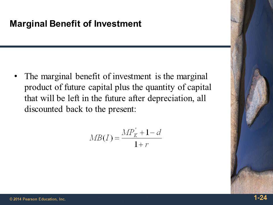 Marginal Benefit of Investment