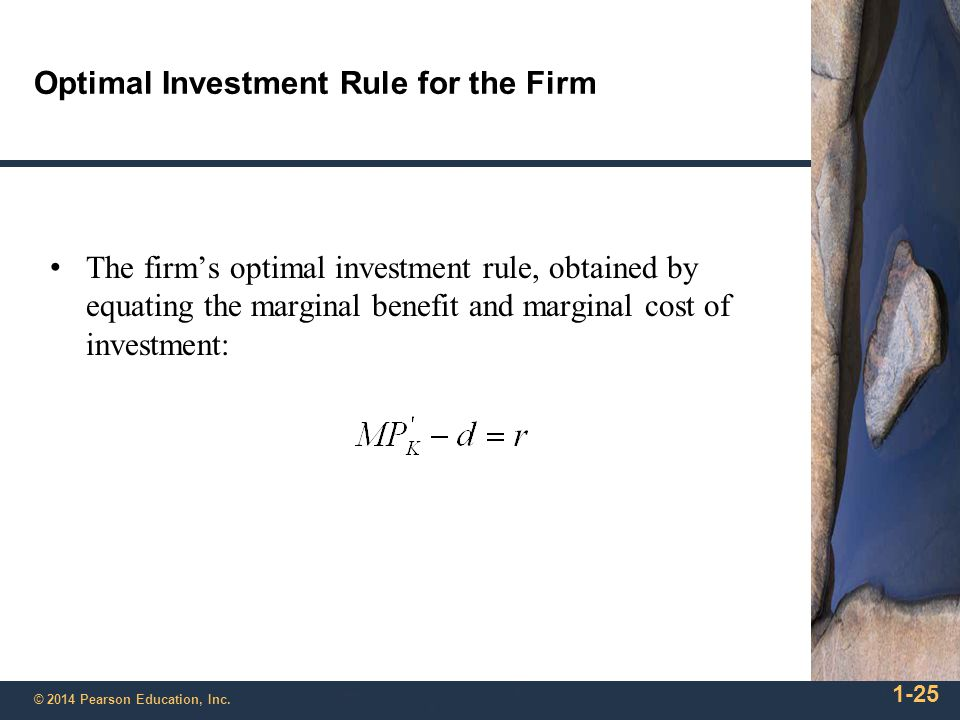 Optimal Investment Rule for the Firm