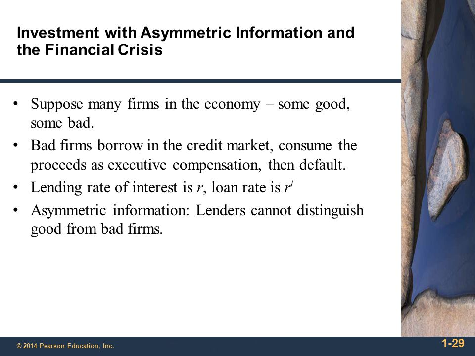 Investment with Asymmetric Information and the Financial Crisis