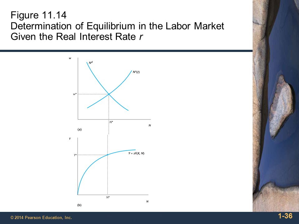 Figure 11.14 Determination of Equilibrium in the Labor Market Given the Real Interest Rate r