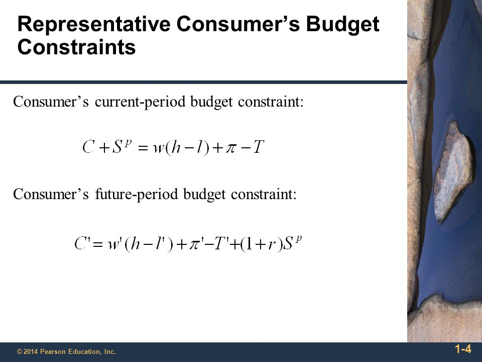 Representative Consumer's Budget Constraints