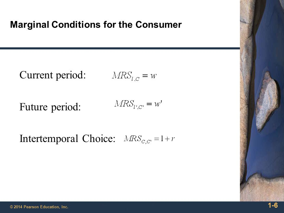 Marginal Conditions for the Consumer