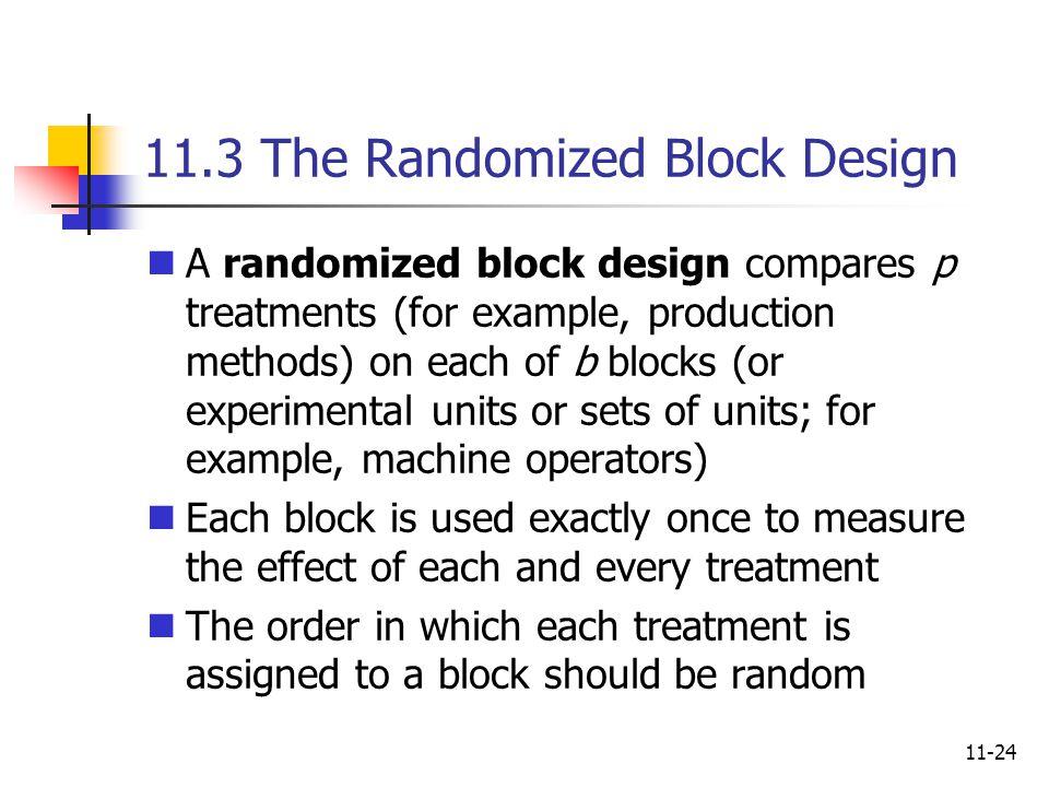 11.3 The Randomized Block Design