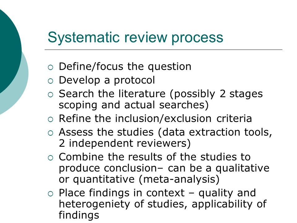 narrative systematic literature review