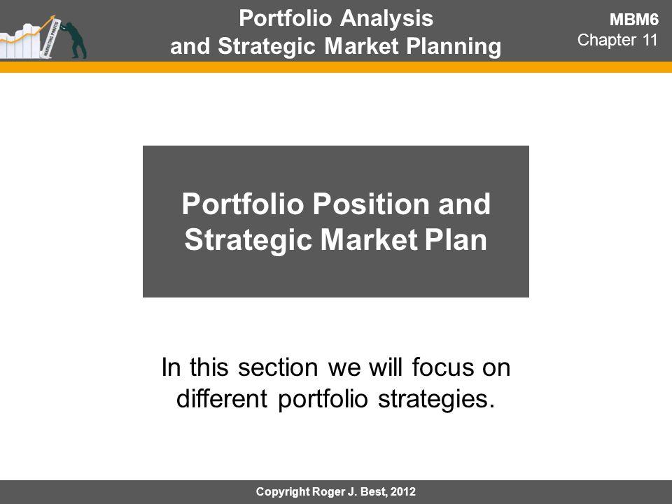 Portfolio Position and Strategic Market Plan