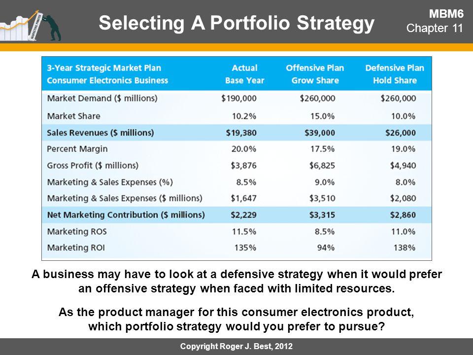 Selecting A Portfolio Strategy
