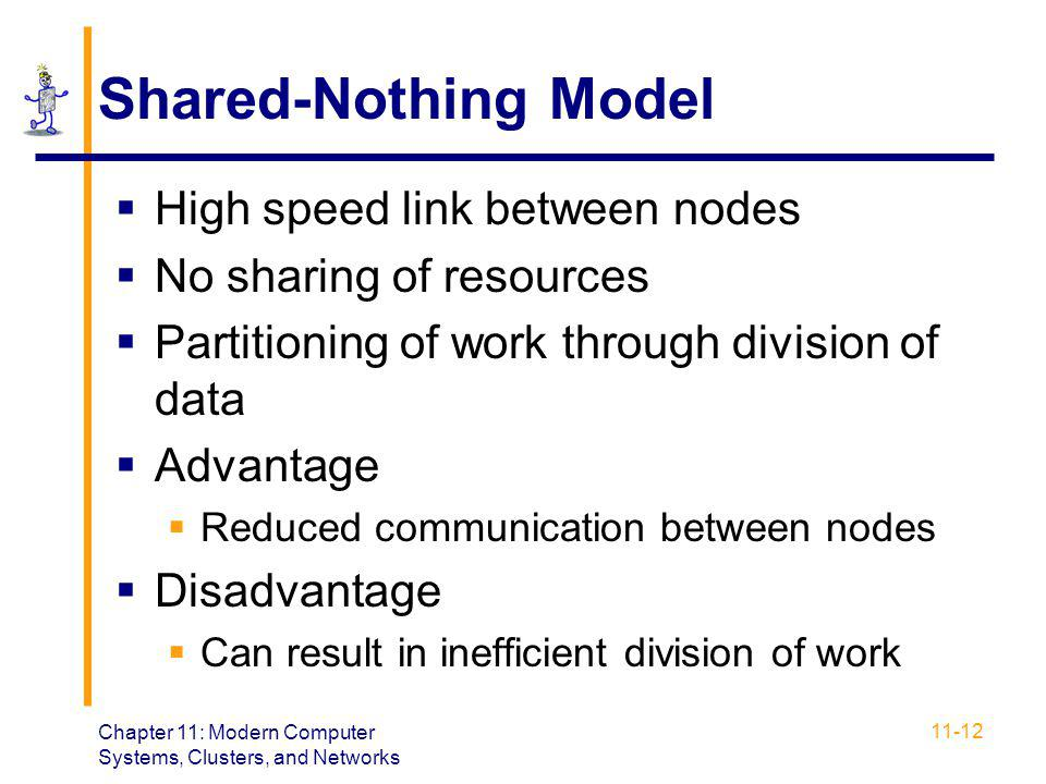 Shared-Nothing Model High speed link between nodes