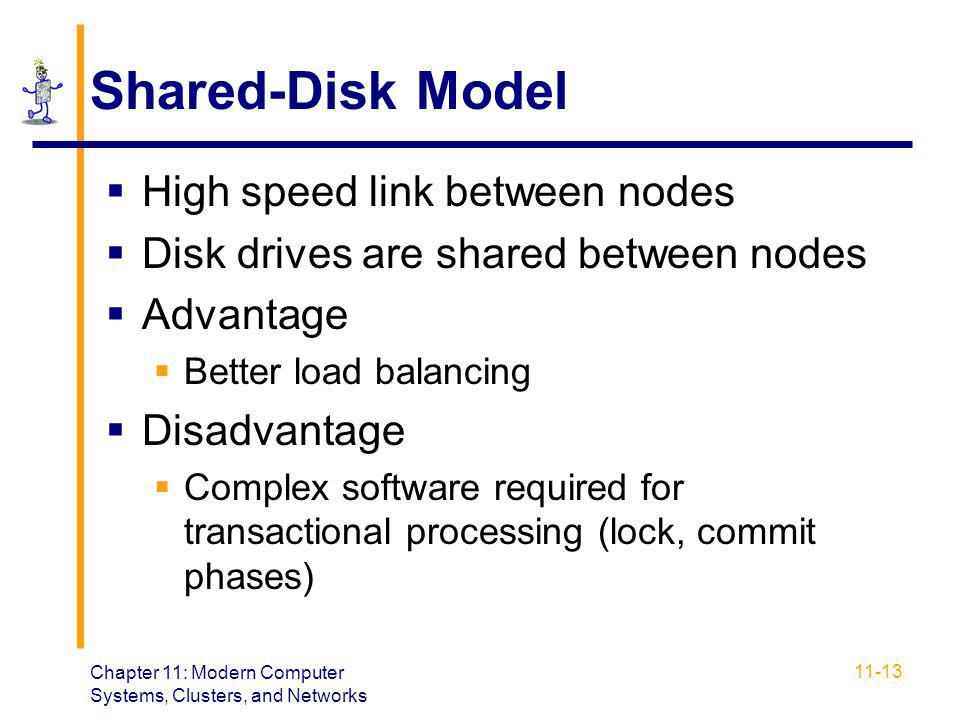 Shared-Disk Model High speed link between nodes