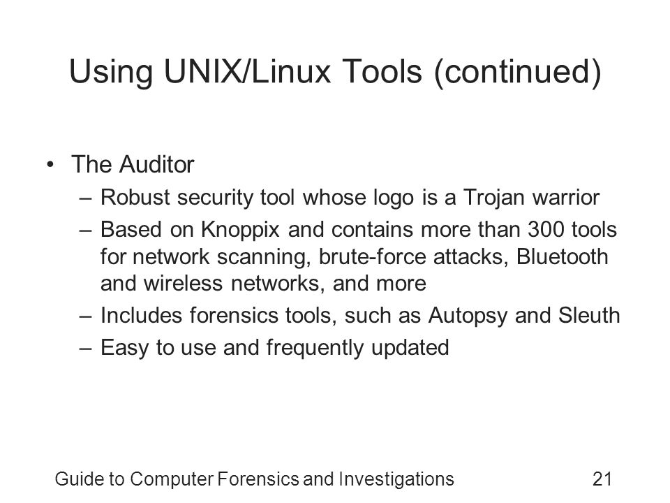 Using UNIX/Linux Tools (continued)