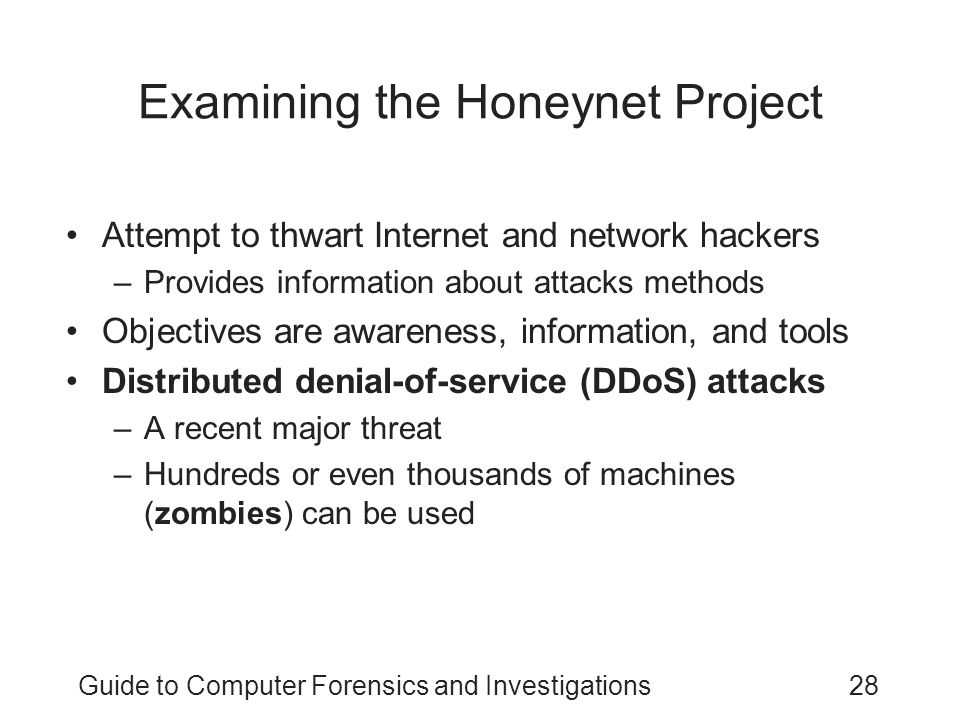 Examining the Honeynet Project