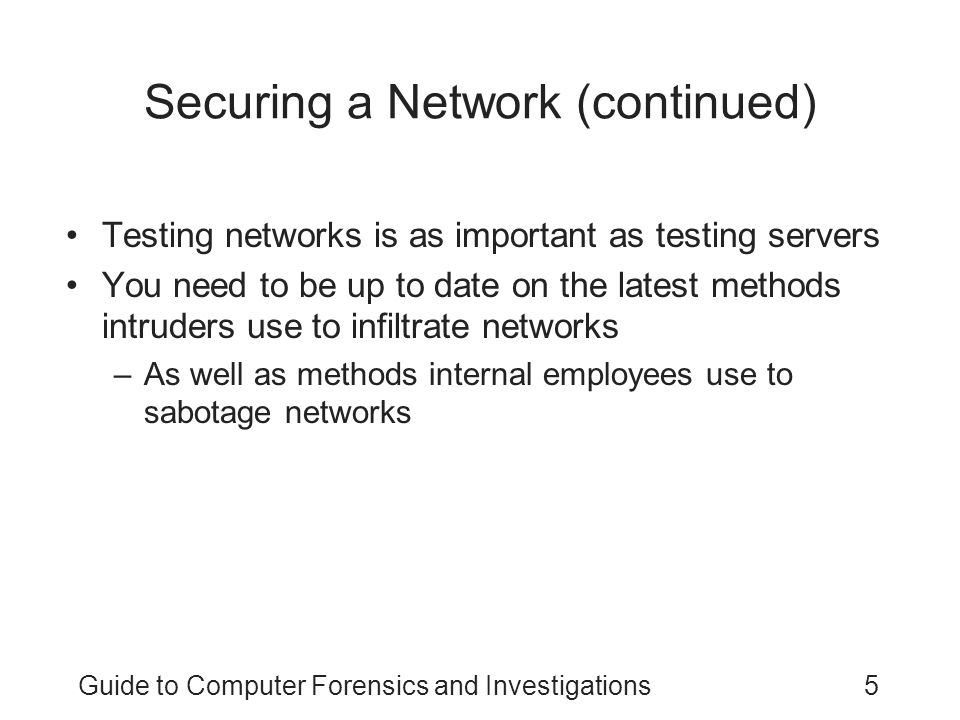 Securing a Network (continued)