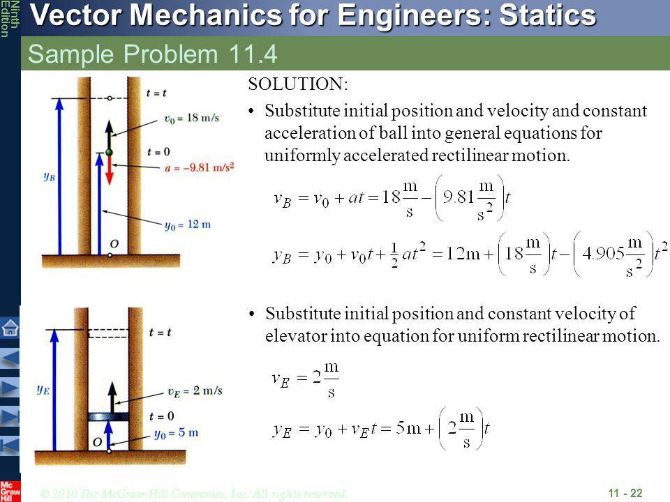Sample Problem 11.4 SOLUTION: