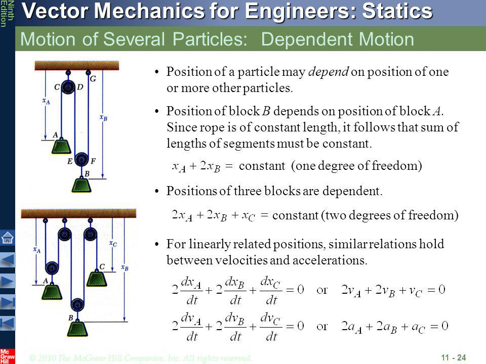 Motion of Several Particles: Dependent Motion