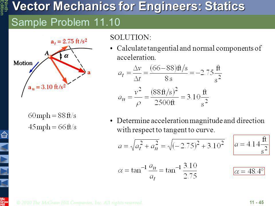 Sample Problem 11.10 SOLUTION: