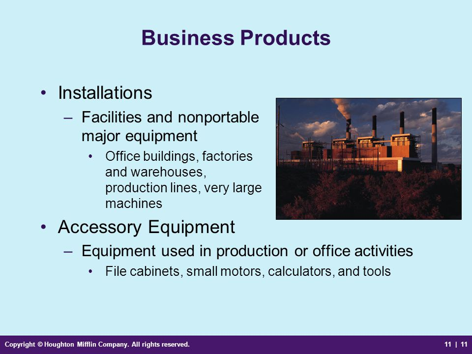 Business Products Installations Accessory Equipment