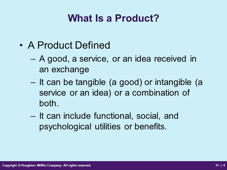 What Is a Product A Product Defined