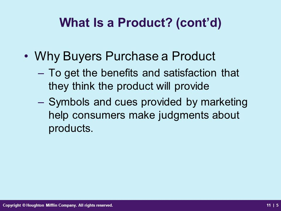 What Is a Product (cont'd)