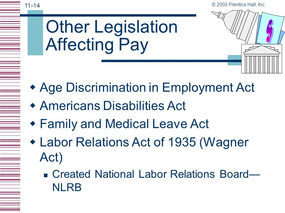 Other Legislation Affecting Pay