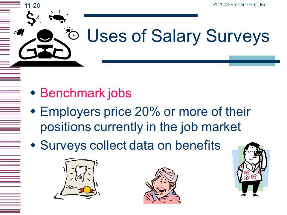 Uses of Salary Surveys Benchmark jobs