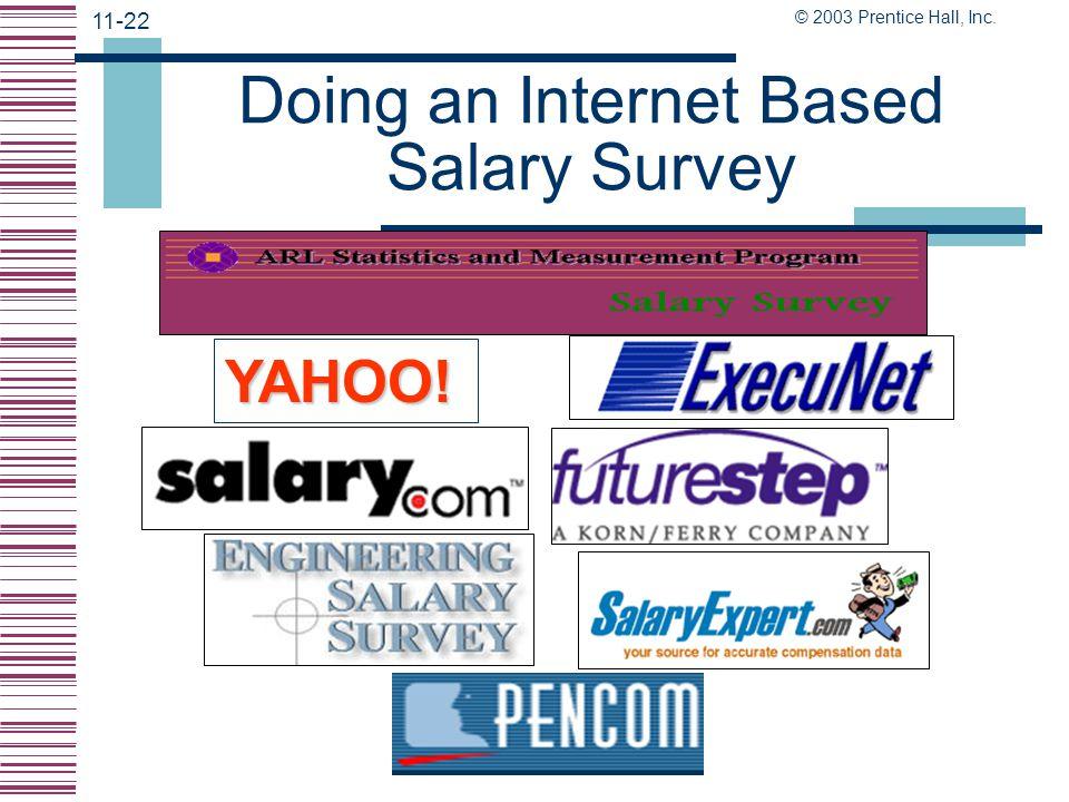 Doing an Internet Based Salary Survey