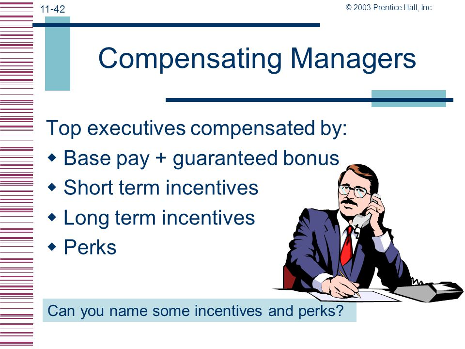 Compensating Managers