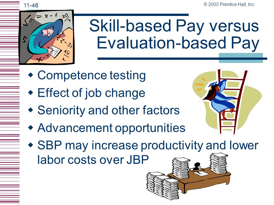 Skill-based Pay versus Evaluation-based Pay